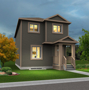 2 story detached garage impact homes for Single story house plans with detached garage